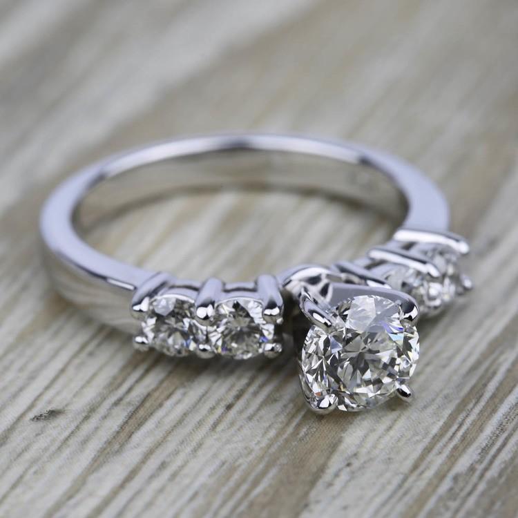 Round Five-Diamond Engagement Ring in Platinum (1/2 ctw)   05