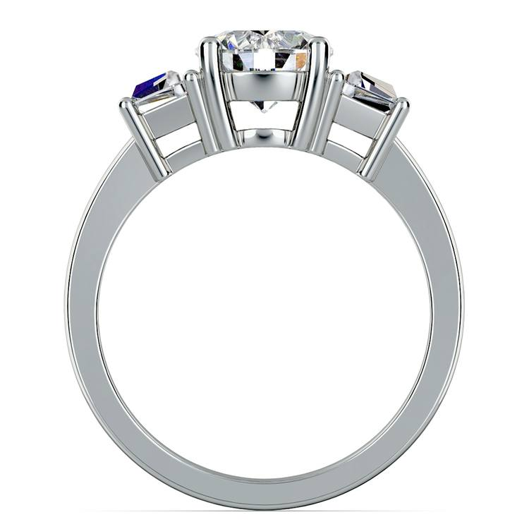 Trapezoid Diamond Engagement Ring in Platinum (1/2 ctw) | 02