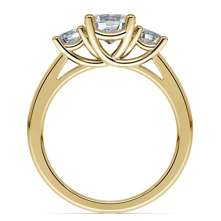 Trellis Three Diamond Engagement Ring in Yellow Gold (1/2 ctw) | 02