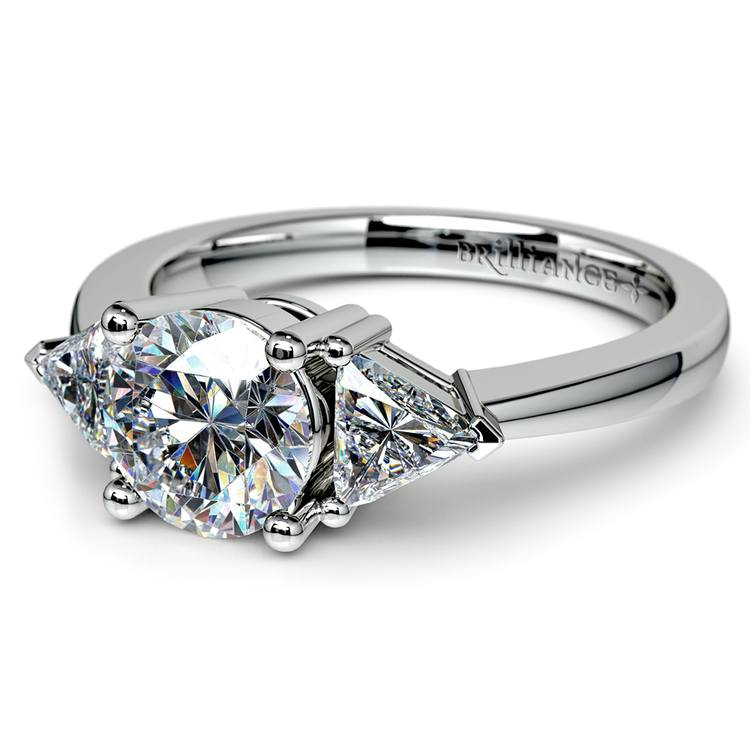Trillion Diamond Engagement Ring in Platinum (1/2 ctw) | 04