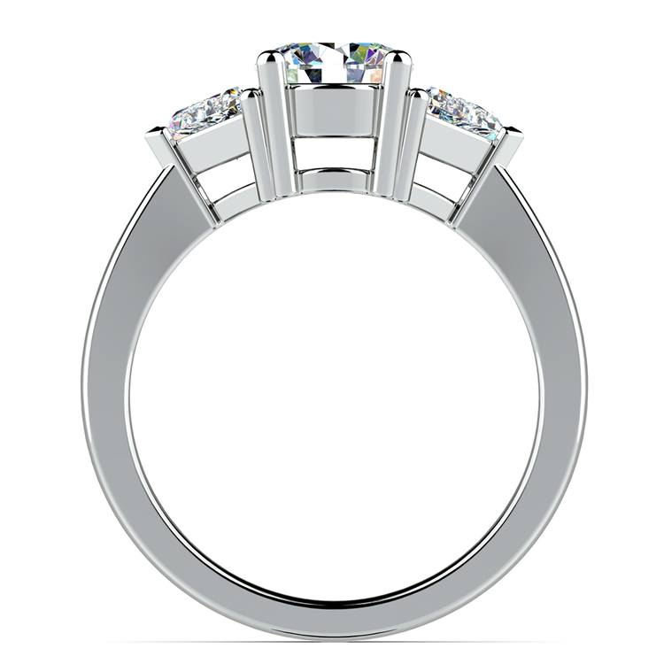 Trillion Diamond Engagement Ring in White Gold (1/2 ctw) | 02