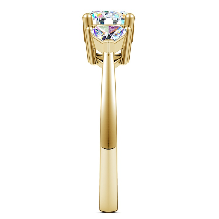 Trillion Diamond Engagement Ring in Yellow Gold (1/2 ctw) | 03