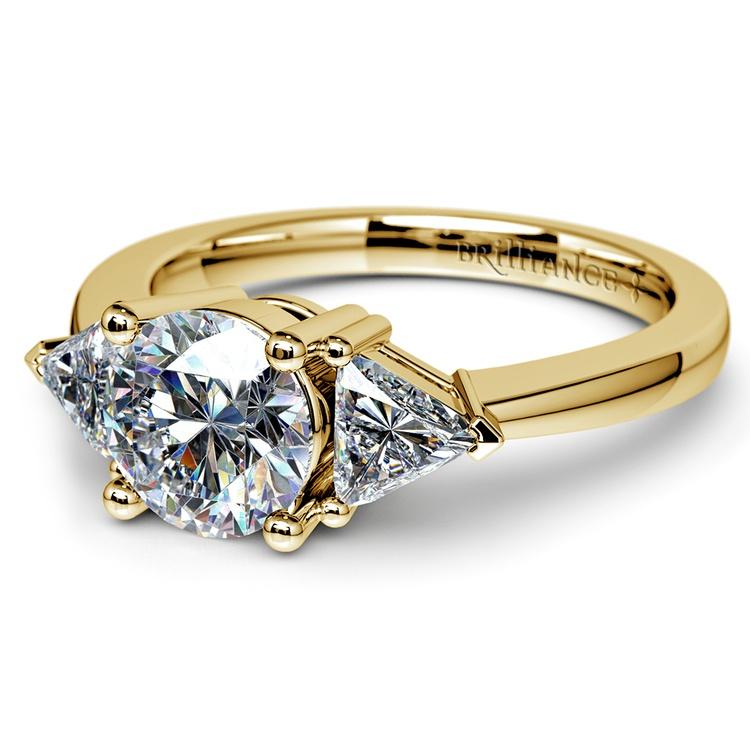 Trillion Diamond Engagement Ring in Yellow Gold (1/2 ctw) | 04