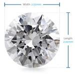2 MM Round Diamond, Luxury Melee Diamonds | Thumbnail 02