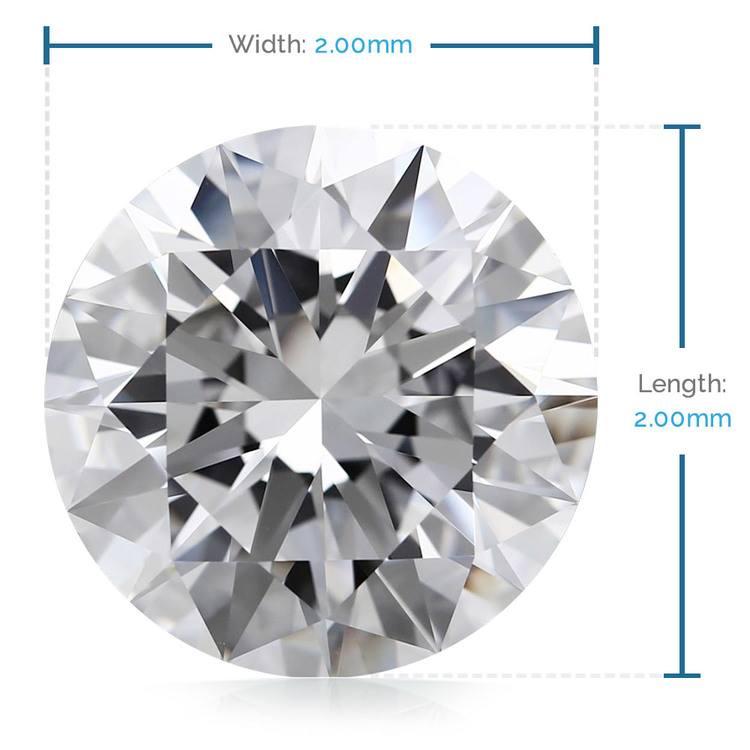 2 MM Round Diamond, Luxury Melee Diamonds | 02