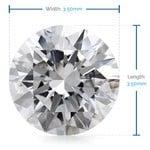 3.5 MM Round Diamond, Luxury Melee Diamonds   Thumbnail 02