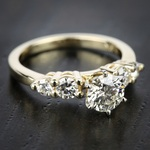 Round Diamond Engagement Ring in Yellow Gold (1/3 ctw) | Thumbnail 05