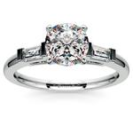 Baguette Diamond Engagement Ring in White Gold (1/3 ctw)   Thumbnail 01