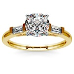 Baguette Diamond Engagement Ring in Yellow Gold (1/3 ctw) | Thumbnail 01