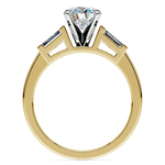 Baguette Diamond Engagement Ring in Yellow Gold (1/3 ctw) | Thumbnail 02