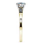 Baguette Diamond Engagement Ring in Yellow Gold (1/3 ctw) | Thumbnail 03