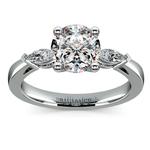 Marquise Diamond Engagement Ring in Platinum (1/3 ctw) | Thumbnail 01