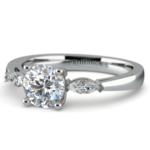 Marquise Diamond Engagement Ring in Platinum (1/3 ctw) | Thumbnail 04