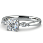 Marquise Diamond Engagement Ring in White Gold (1/3 ctw) | Thumbnail 04