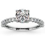 Shared Prong Diamond Engagement Ring in Palladium (1/3 ctw)  | Thumbnail 01