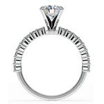 Shared Prong Diamond Engagement Ring in Palladium (1/3 ctw)  | Thumbnail 02