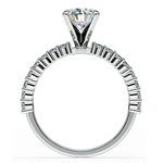 Shared Prong Diamond Engagement Ring in Platinum (1/3 ctw)  | Thumbnail 02