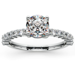 Shared Prong Diamond Engagement Ring in White Gold (1/3 ctw)    Thumbnail 01
