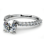 Shared Prong Diamond Engagement Ring in White Gold (1/3 ctw)    Thumbnail 04