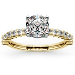 Shared Prong Diamond Engagement Ring in Yellow Gold (1/3 ctw) | Thumbnail 01