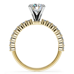 Shared Prong Diamond Engagement Ring in Yellow Gold (1/3 ctw) | Thumbnail 02