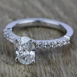 Shared Prong Diamond Engagement Ring in White Gold (1/3 ctw)    Thumbnail 05