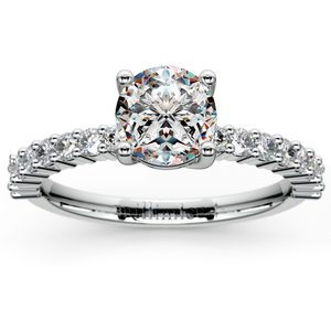 Shared Prong Diamond Engagement Ring in Palladium (1/3 ctw)