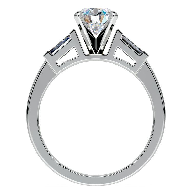 Baguette Diamond Engagement Ring in Platinum (1/3 ctw) | 02
