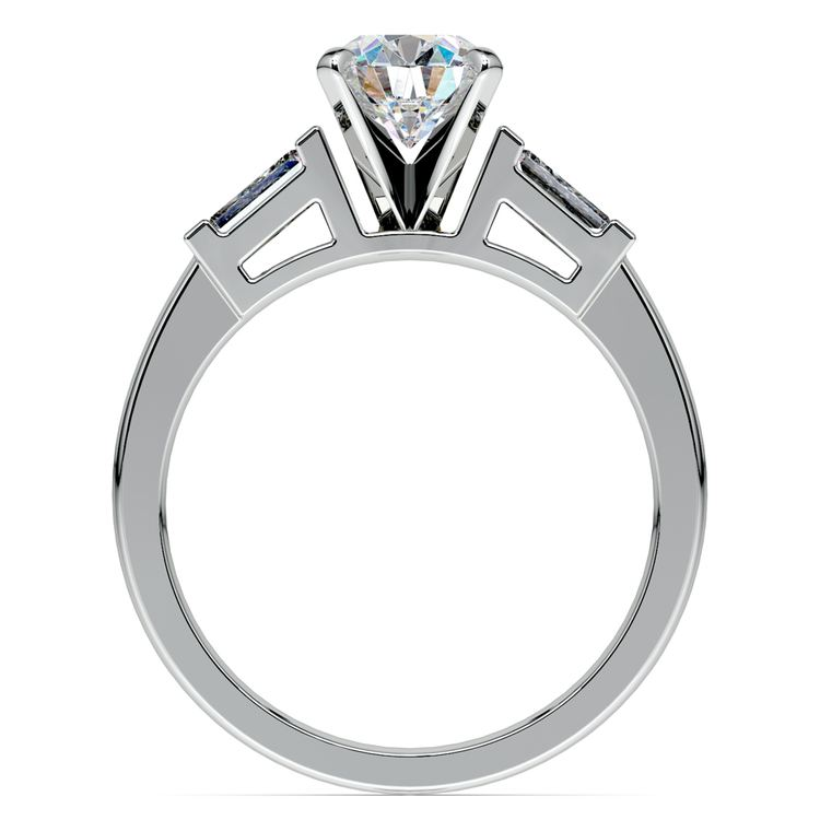 Baguette Diamond Engagement Ring in White Gold (1/3 ctw)   02