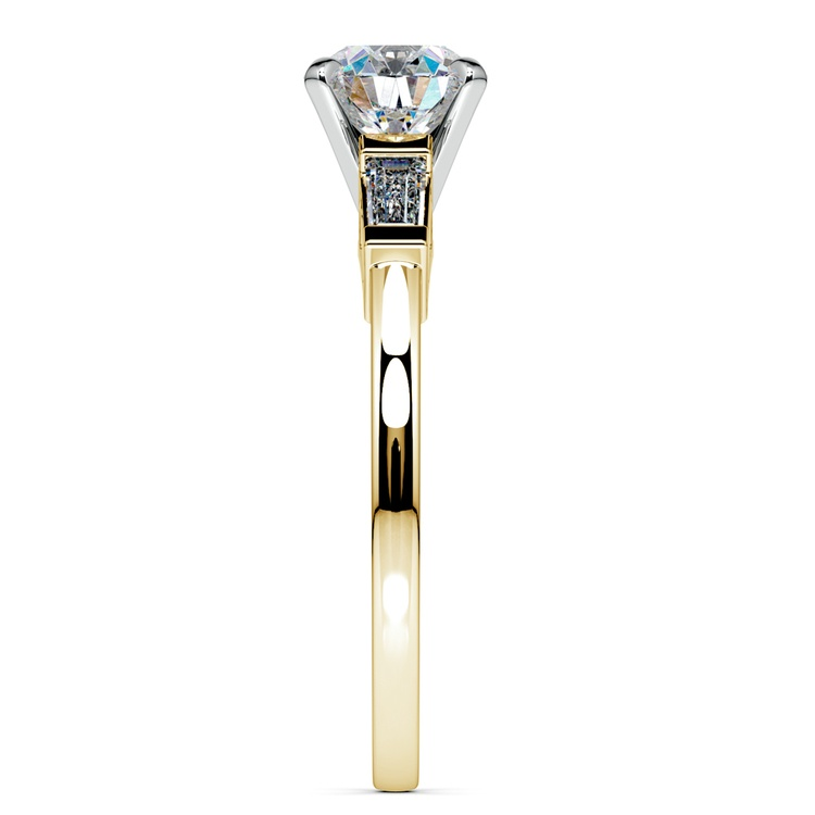 Baguette Diamond Engagement Ring in Yellow Gold (1/3 ctw) | 03