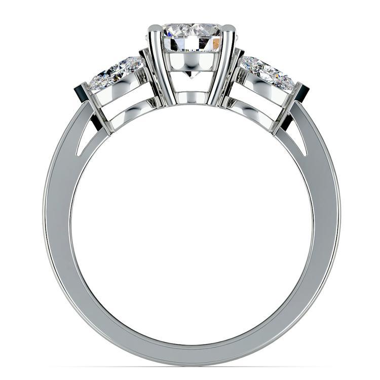 Marquise Diamond Engagement Ring in Platinum (1/3 ctw) | 02