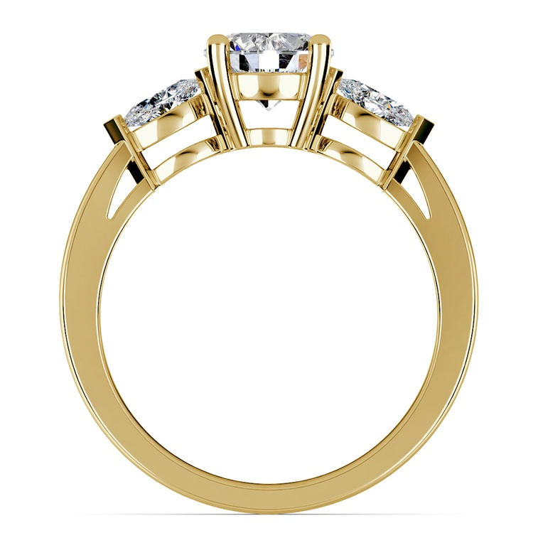 Marquise Diamond Engagement Ring in Yellow Gold (1/3 ctw) | 02