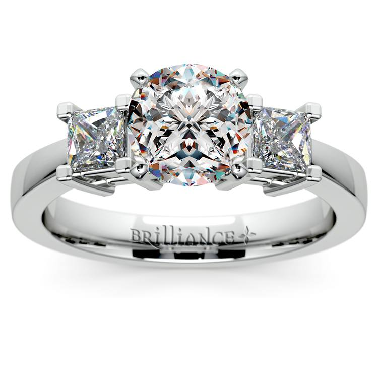 Princess Diamond Engagement Ring in White Gold (1/3 ctw) | 01