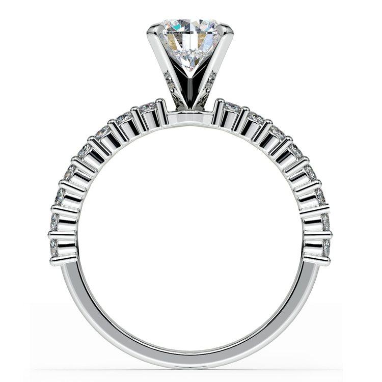 Shared Prong Diamond Engagement Ring in Palladium (1/3 ctw)  | 02
