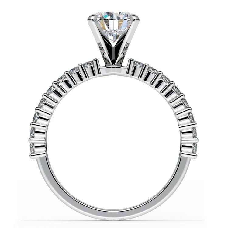 Shared Prong Diamond Engagement Ring in White Gold (1/3 ctw)    02
