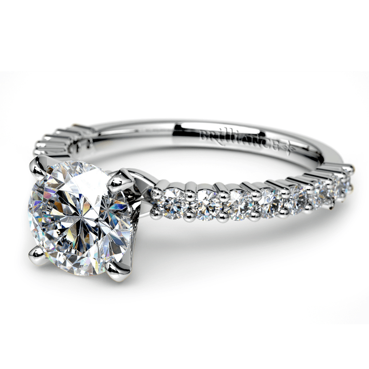 Shared Prong Diamond Engagement Ring in White Gold (1/3 ctw)    04