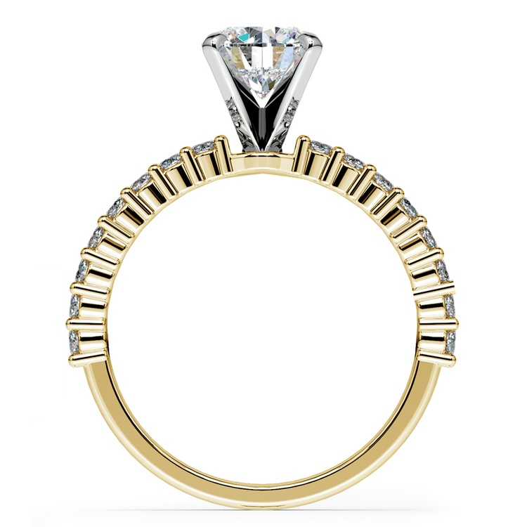 Shared Prong Diamond Engagement Ring in Yellow Gold (1/3 ctw) | 02