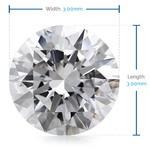 3 MM Round Diamond, Luxury Melee Diamonds   Thumbnail 02