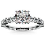 Bezel Diamond Engagement Ring in White Gold (1/4 ctw) | Thumbnail 01