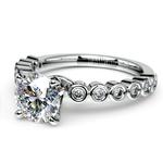 Bezel Diamond Engagement Ring in White Gold (1/4 ctw) | Thumbnail 04