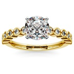 Bezel Diamond Engagement Ring in Yellow Gold (1/4 ctw) | Thumbnail 01