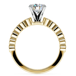 Bezel Diamond Engagement Ring in Yellow Gold (1/4 ctw) | Thumbnail 02