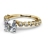 Bezel Diamond Engagement Ring in Yellow Gold (1/4 ctw) | Thumbnail 04