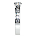 Channel Diamond Engagement Ring in White Gold (3/4 ctw) | Thumbnail 03