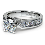 Channel Diamond Engagement Ring in White Gold (3/4 ctw) | Thumbnail 04