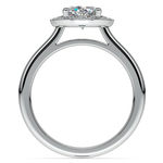 Halo Diamond Engagement Ring in Platinum (1/4 ctw) | Thumbnail 02