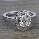 Halo Diamond Engagement Ring in White Gold (1/4 ctw) | Thumbnail 05