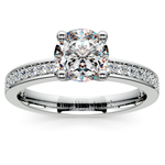 Pave Diamond Engagement Ring in White Gold (1/4 ctw) | Thumbnail 01