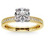 Pave Diamond Engagement Ring in Yellow Gold (1/4 ctw) | Thumbnail 01