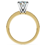 Pave Diamond Engagement Ring in Yellow Gold (1/4 ctw) | Thumbnail 02